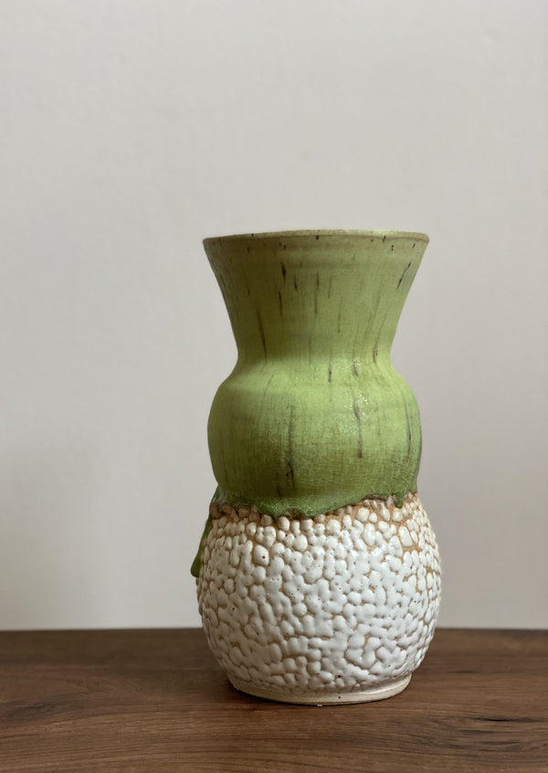 Oedipa Vase in Limeaid Kaolin