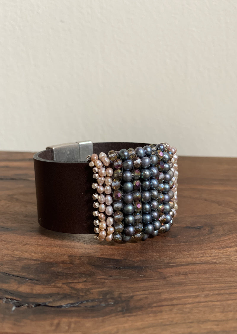 Natural Pearl Gem Cuff