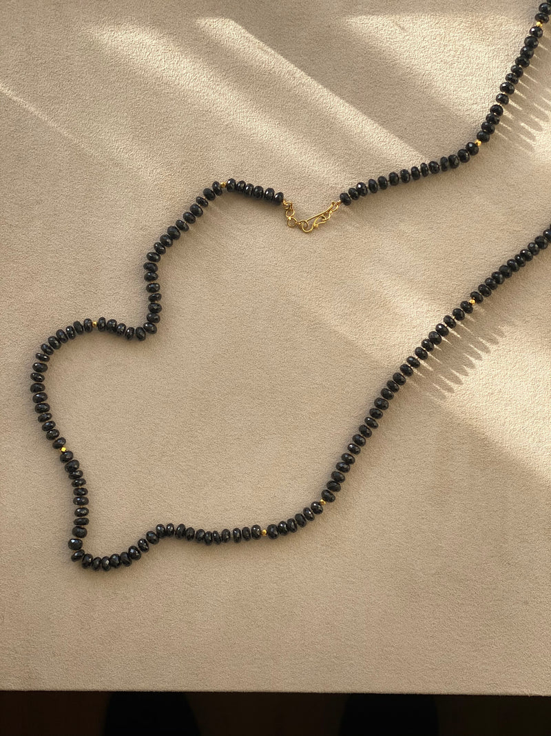 Black Spinel and 18k Necklace