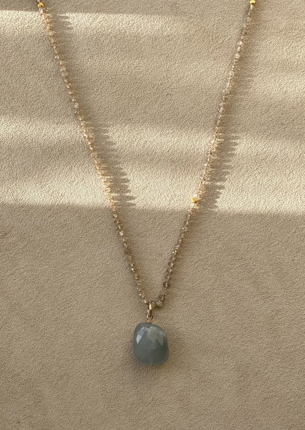 Zircon Gem Drop Necklace