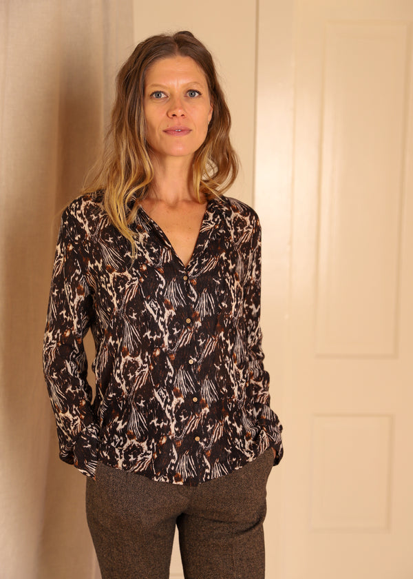 Diega Caravela Blouse Top Shirt Wool French Paris