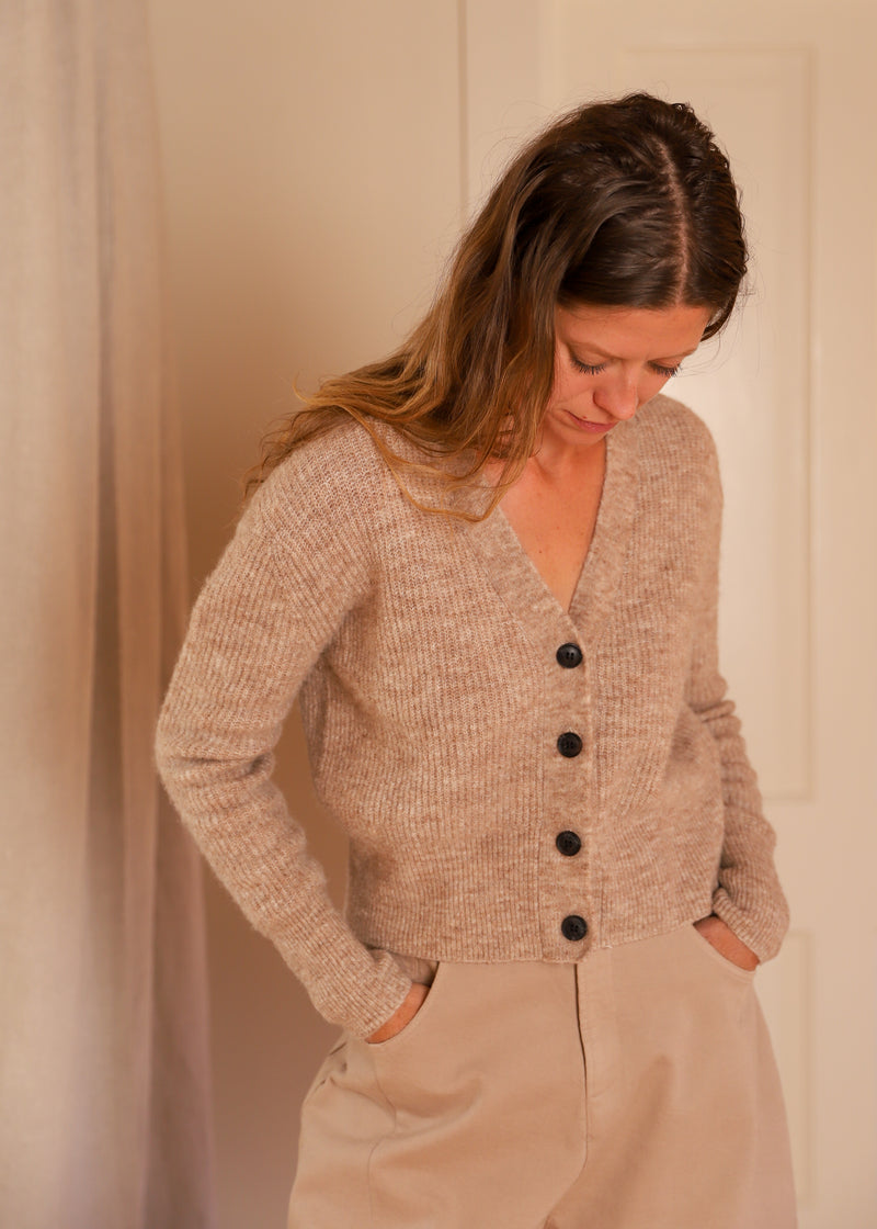 Just Female Rebelo Knit Cardigan Alpaca Cropped
