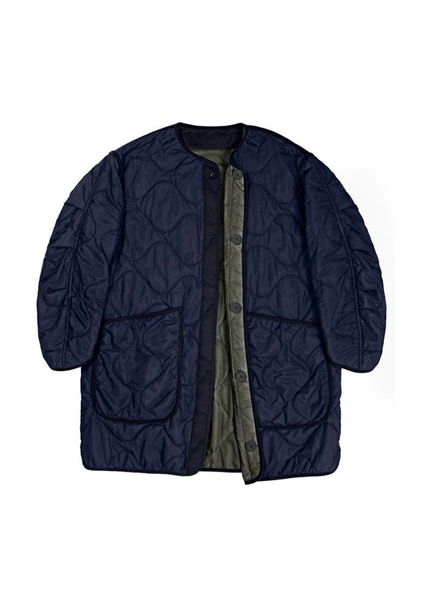 Signature Reverse Quilt Jacket, Navy