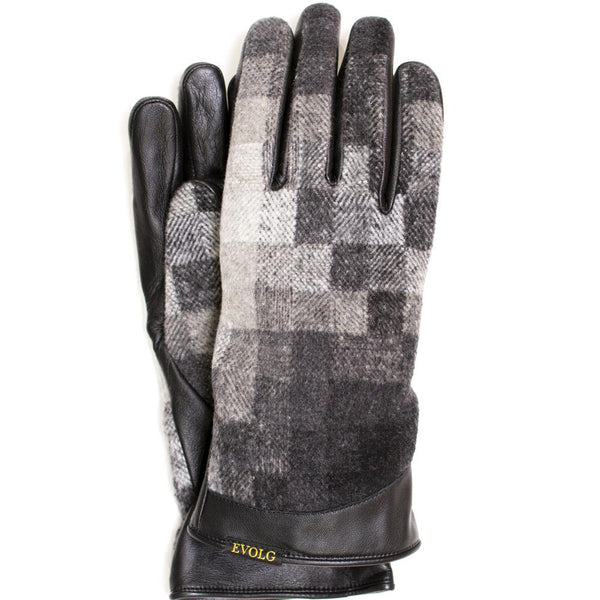 Grey checkered EVOLG gloves