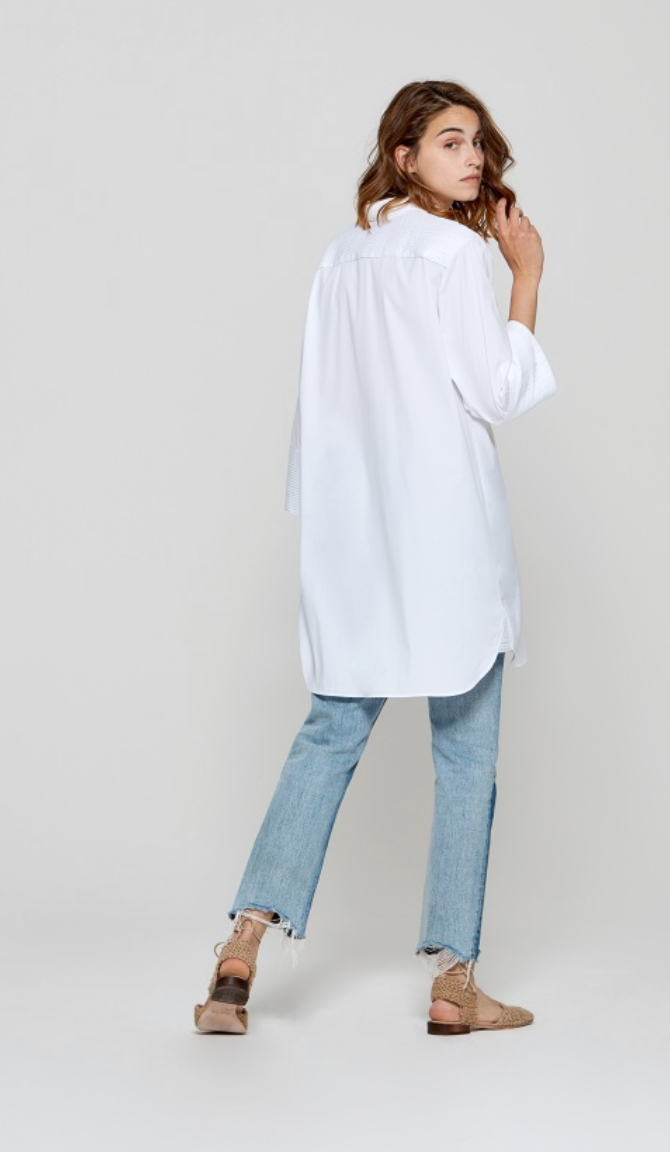 Pleated Detail Shirt Dress