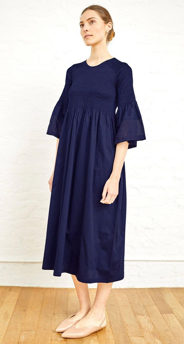 Stella Midi Dress, Navy