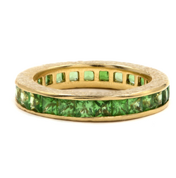 Green Tsavorite Ivy Eternity Band
