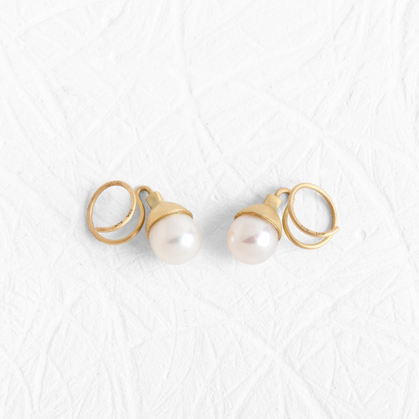 Spiral Pearl Earrings