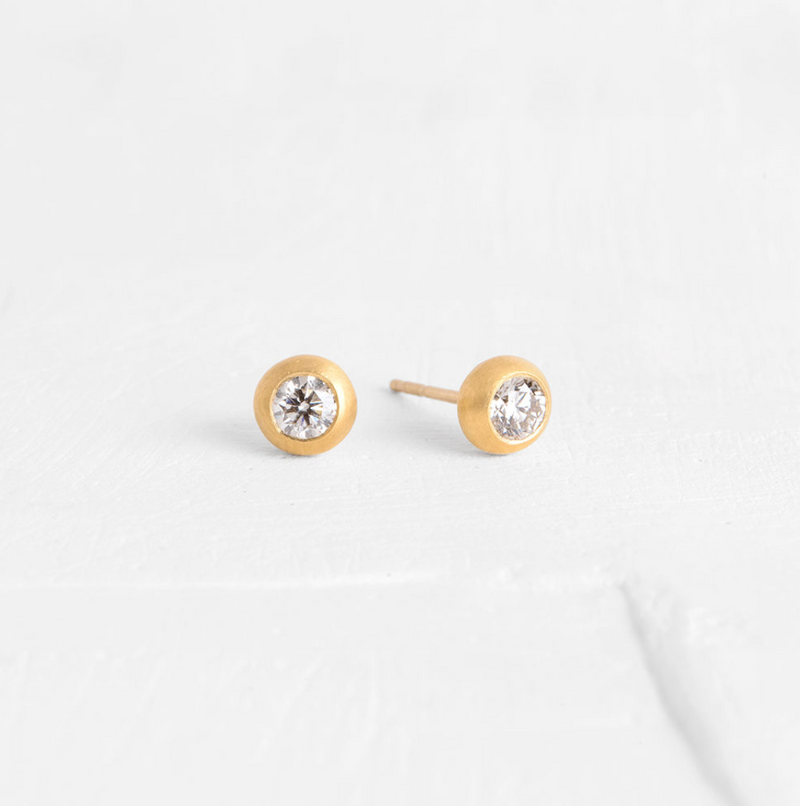 Donut Earrings with Diamonds