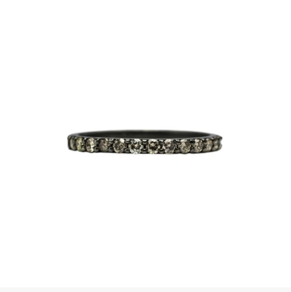 Gitana Half Eternity Band w/Champagne Diamonds