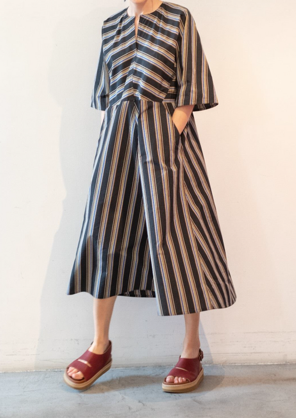 Flattering Sofie D'Hoore Delice Dress with Stripes