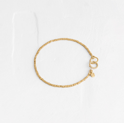 Rectangular Gold Bead Bracelet