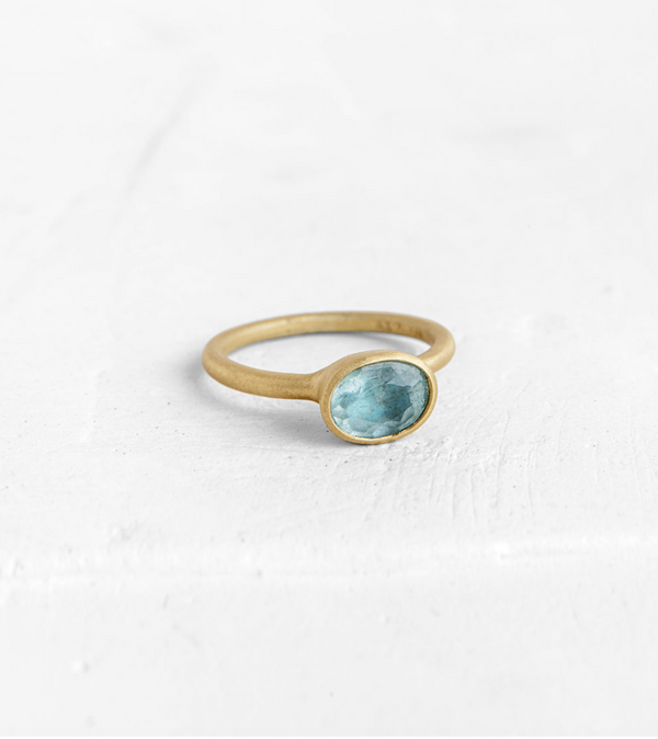 Aquamarine Vase Ring