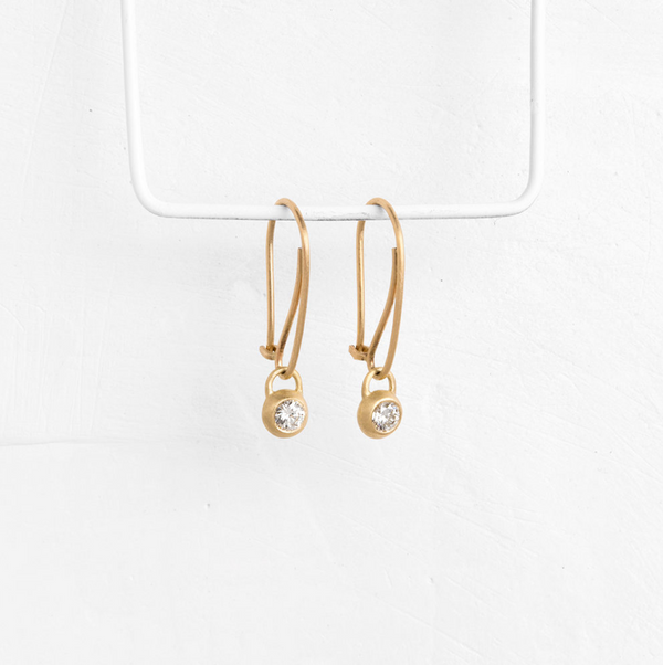 Diamond Donut Earrings