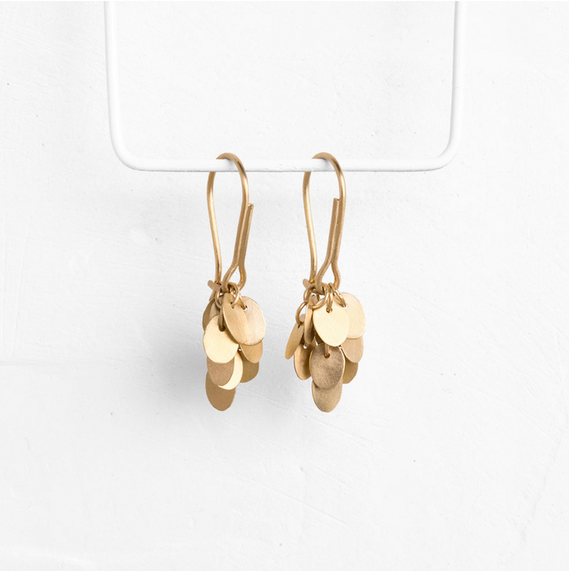 Gold Cluster Earrings
