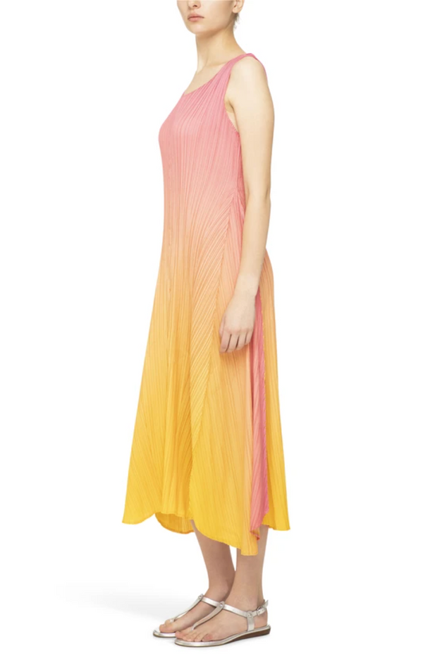 Long Estrella Dress, Pink/Yellow