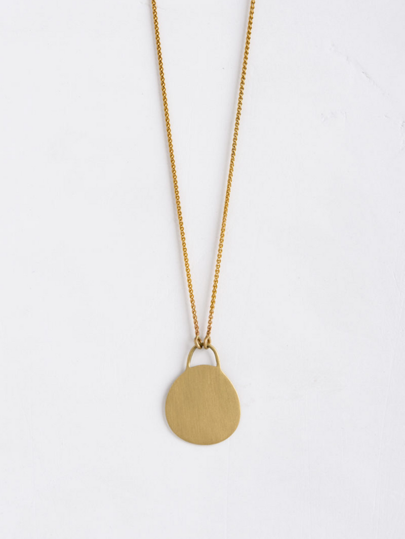 Long Disc Necklace