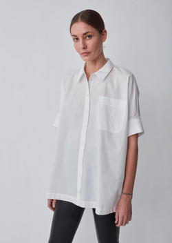 White Noria Button Up Shirt Just Female