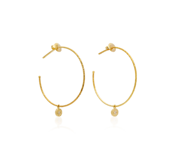 Diamond Nesting Gem Hoops, Small
