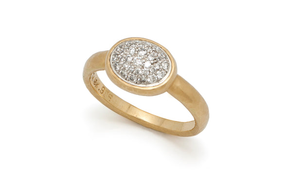 Pavé Diamond Ring, 18 Kt Gold