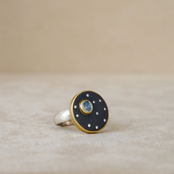 Full Moon & Stars Ring