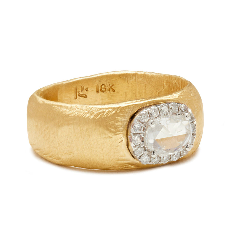 Pave Halo Diamond Ring