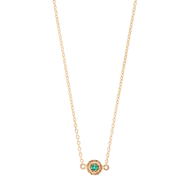 Emerald Nesting Gem Necklace