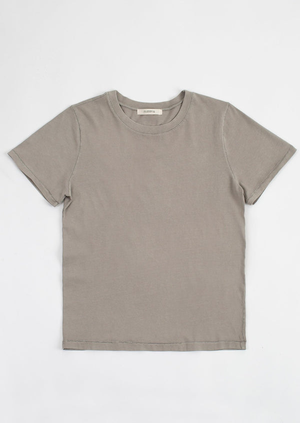 Filosofia 30's top T Shirt Tee  Cotton Dusty Olive Cloud Ivory