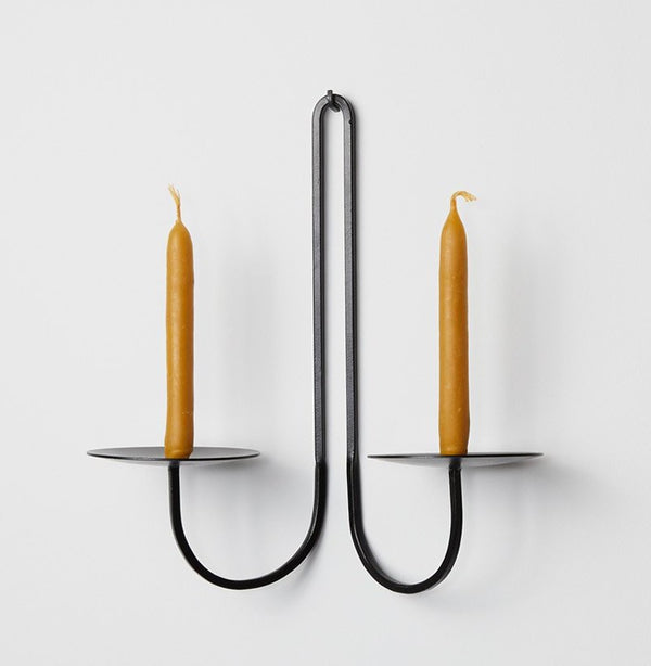 Fredericks and Mae 2-Arm Iron Candleholder