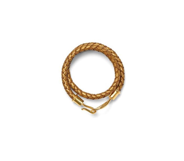 Lasso Hook Leather Wrap Bracelet