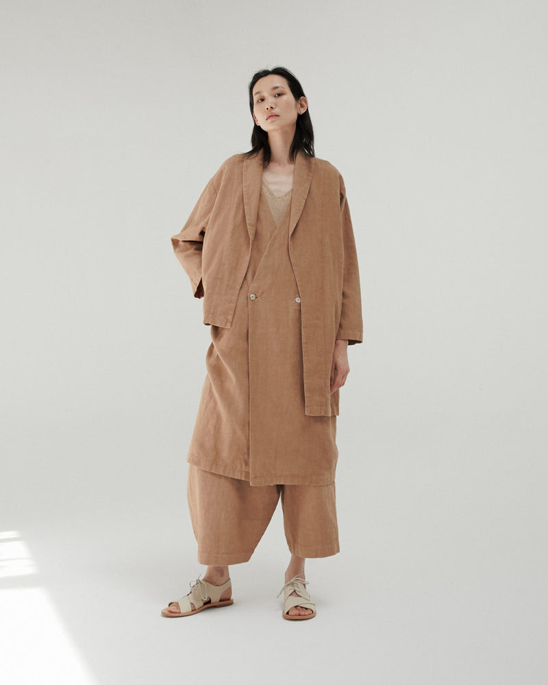 Asymmetrical Ramie Coat