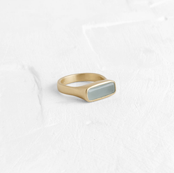 Wide Rectangle Ring