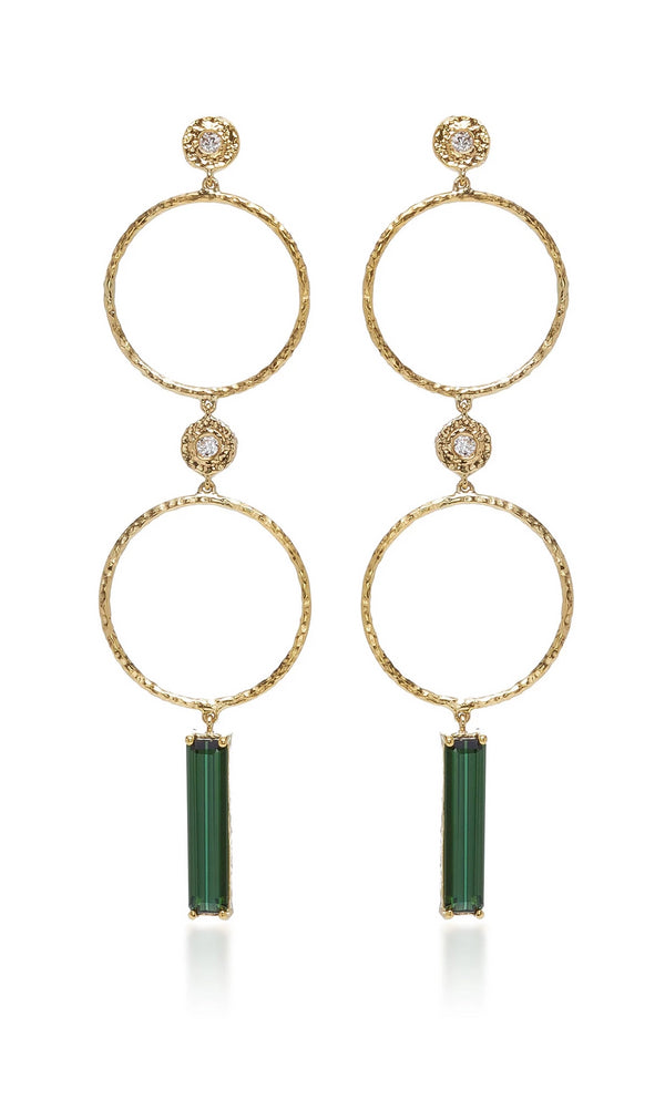 Tourmaline Sliver Earrings