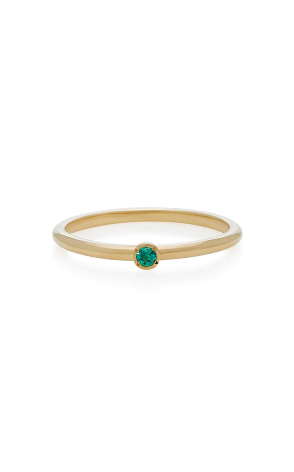 Micro Emerald Stack Ring