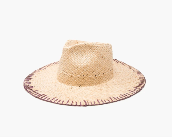 Naomi Straw Whipstitch Hat