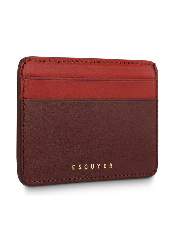 Cardholder, Burgundy & Red