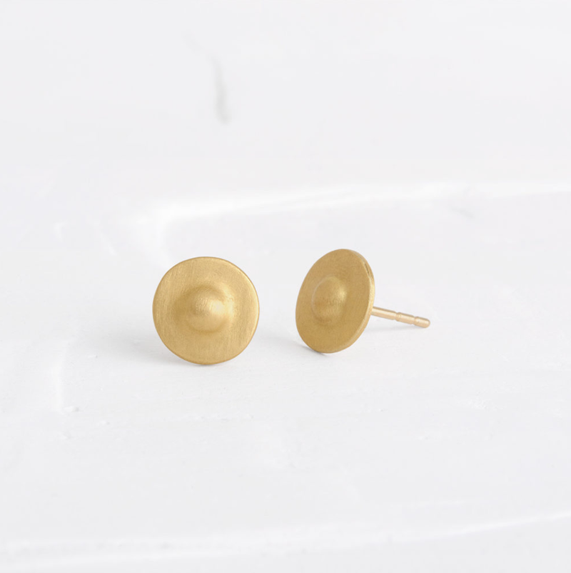 Round Gold Earrings