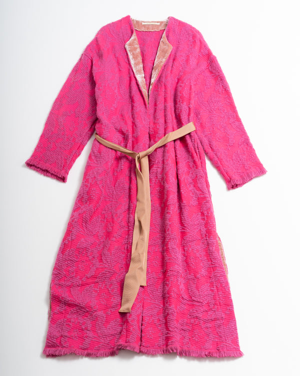 Wool Jacquard Coat