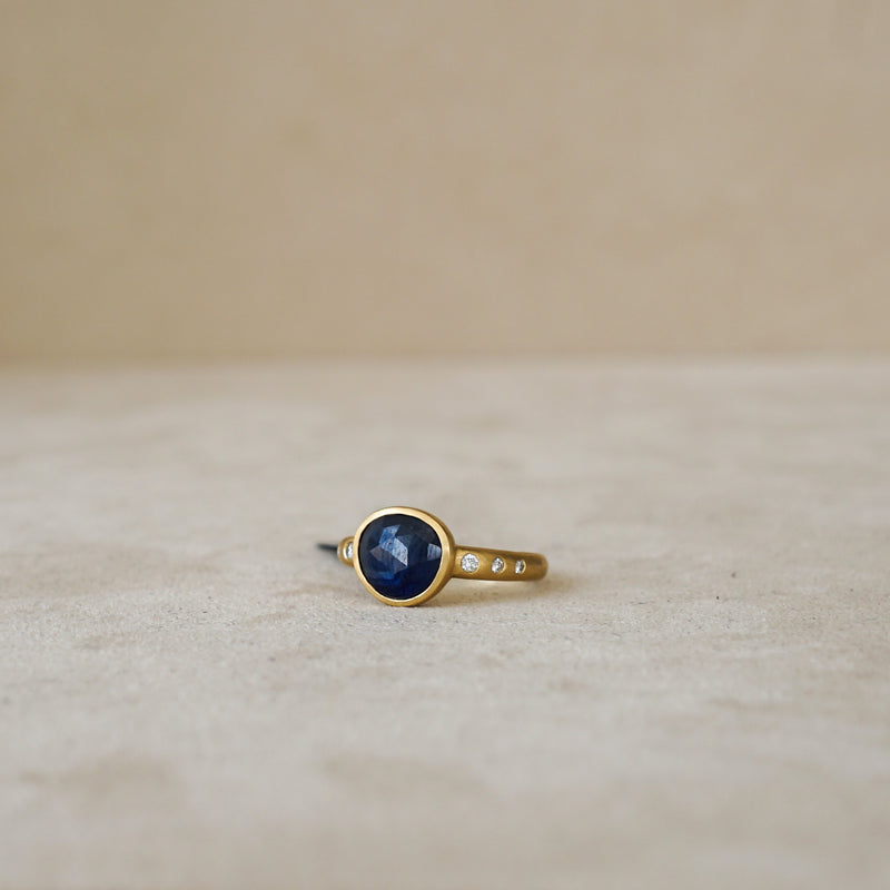 Rose Cut Natural Sapphire Ring