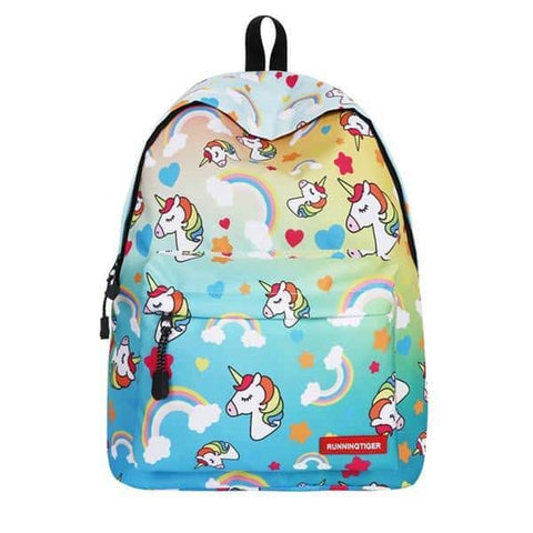 Cartable licorne <br> bleu