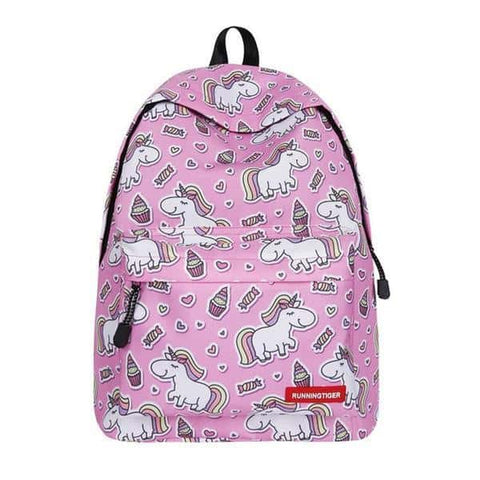 Cartable licorne <br> primaire rose - Licorne