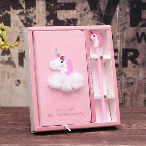 Journal intime licorne <br> rose pour fille - Licorne