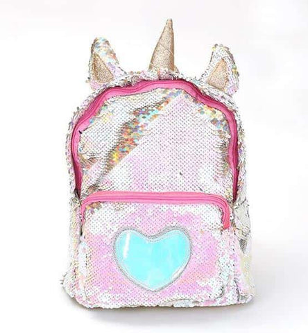 Sac à dos licorne <br> brillant rose