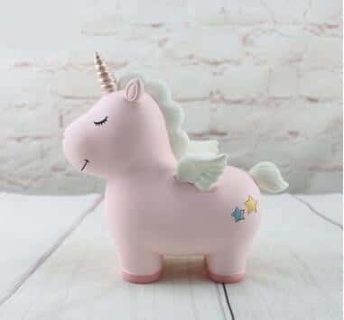 Tirelire licorne <br>rose