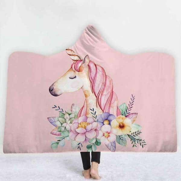Plaid licorne <br> rose - Licorne
