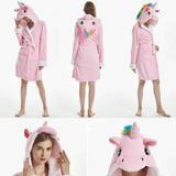Peignoir licorne <br> rose adulte - Licorne