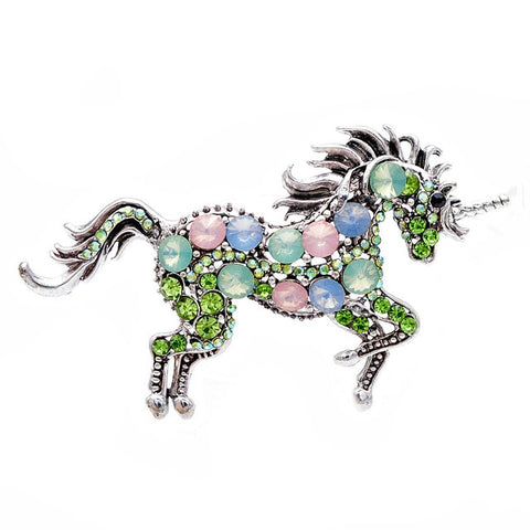 Broche licorne inoxydable