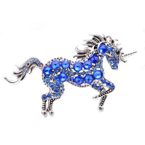 Broche licorne diamant