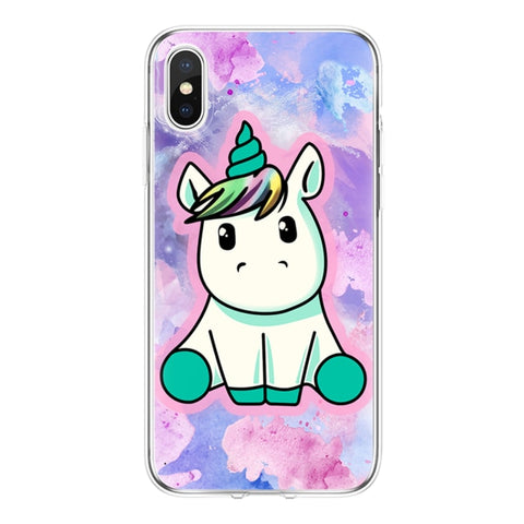 Coque licorne iPhone <br> transparent kawaii - Licorne