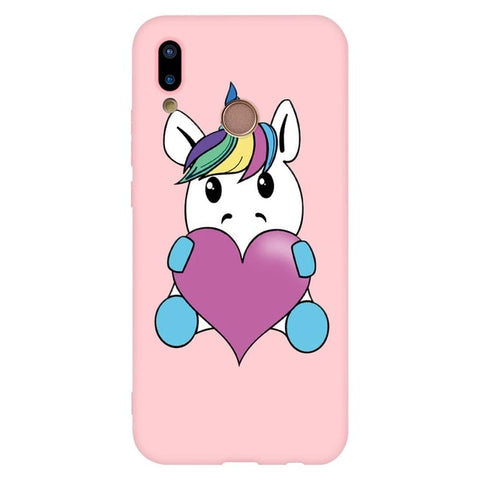 Coque licorne Huawei <br> Coeur